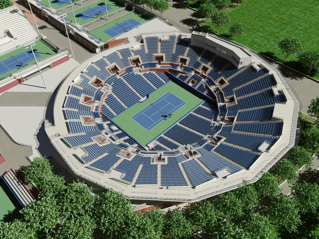 US Open Grandstand Virtual Venue By IOMEDIA - Us open tennis location map